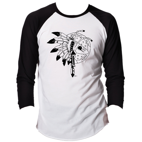 Adam Ant warrior baseball shirt