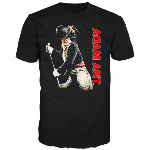 Adam Ant mic pose short sleeve t-shirt
