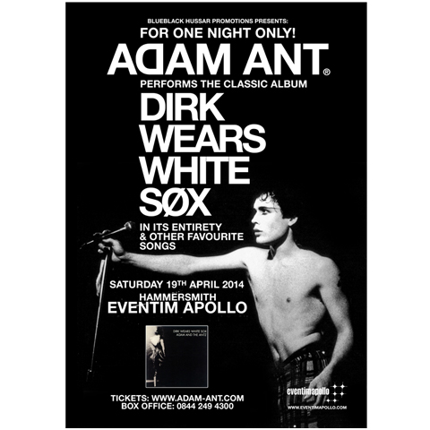 Adam Ant apollo april 2014 poster