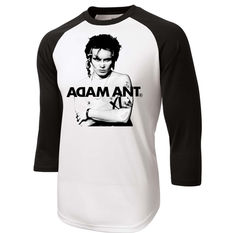 Adam Ant photo baseball shirt
