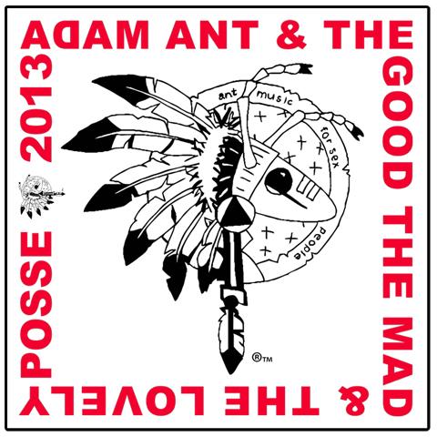 Adam Ant warrior 2013 bandana