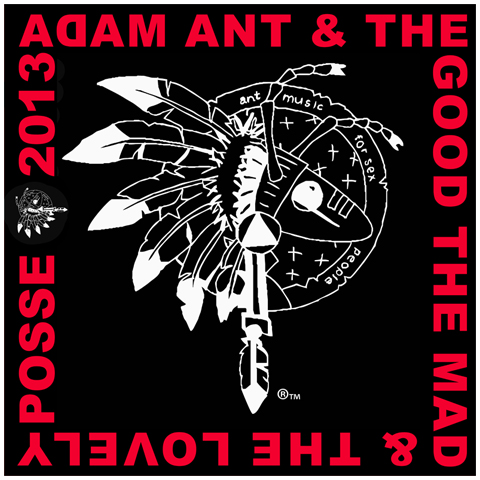 Adam Ant warrior 2013 black bandana