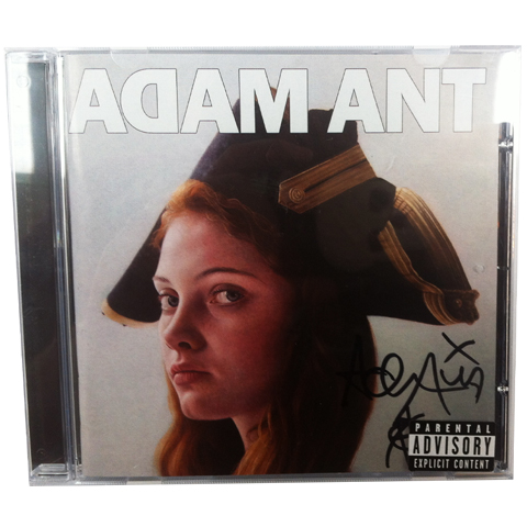 Adam Ant is the blueblack hussar in marrying the gunners daughter cd signed