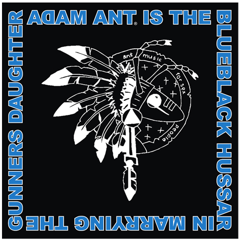 Adam Ant warrior logo blue bandana