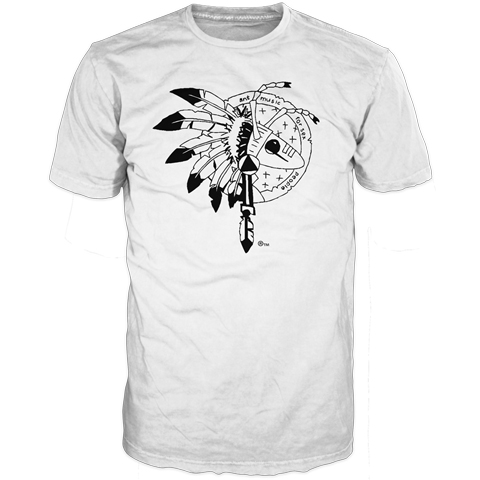 Adam Ant warrior 2013 uk white short sleeve t-shirt