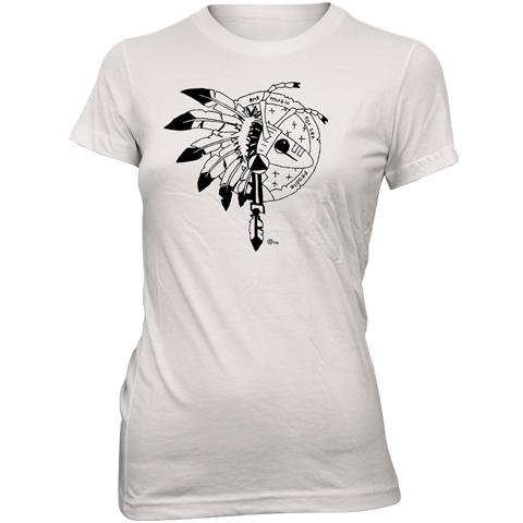 Adam Ant warrior 2013 uk white skinny fit t-shirt