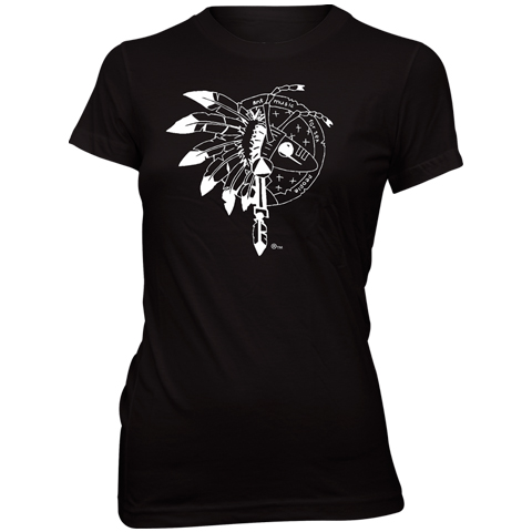 Adam Ant warrior 2013 uk black skinny fit t-shirt