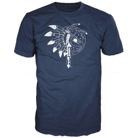 Warrior Logo Navy Short Sleeve T-Shirt
