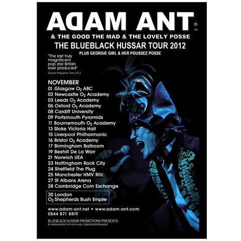 Adam Ant blueblack 2012 poster