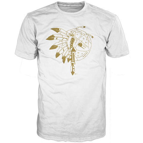 warrior logo gold on white