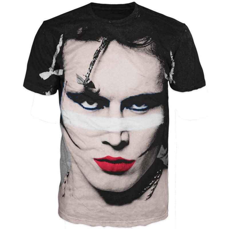 Adam Ant Allover Face Short Sleeve T-Shirt