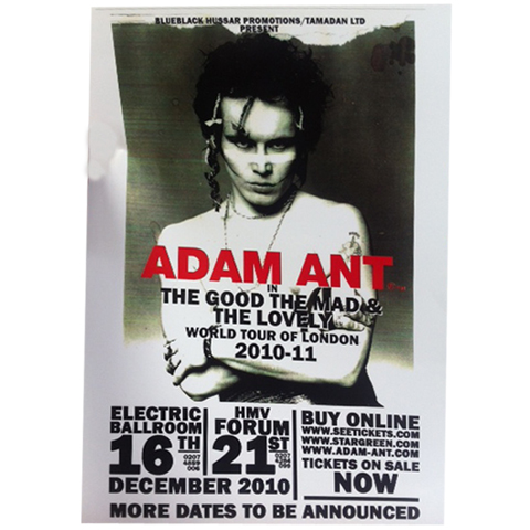 Adam Ant 2010-2011 tour a3 poster