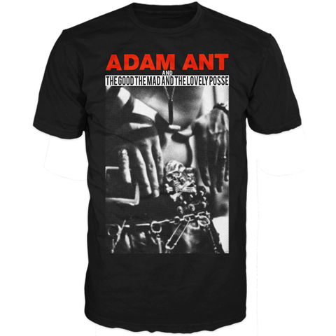 Adam Ant hands black short sleeve t-shirt