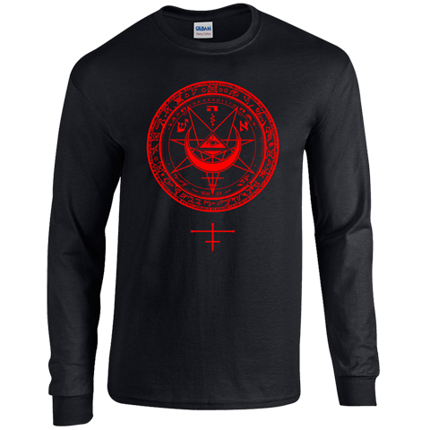Fields Of The Nephilim lvx 2012 red long sleeve t-shirt