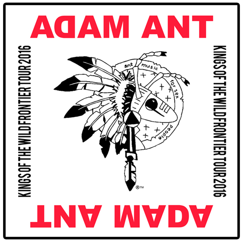 Adam Ant kings of the wild frontier tour 2016 white bandana