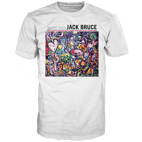 Jack Bruce Silver Rails White Short Sleeve T-Shirt