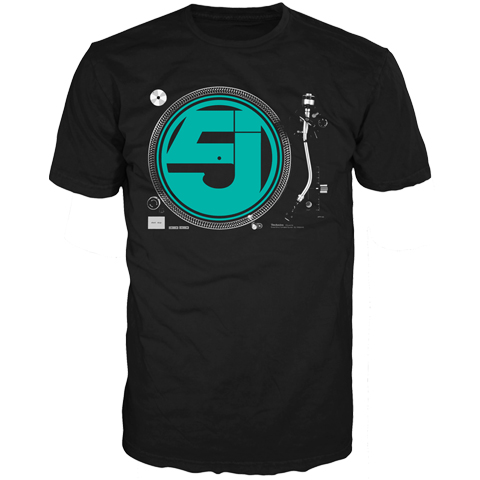Jurassic 5 turntable 2016 short sleeve t-shirt