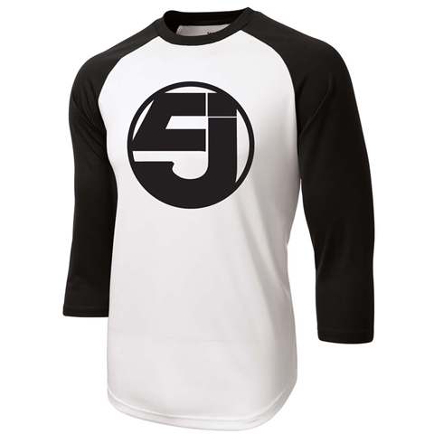 Jurassic 5 logo black baseball shirt