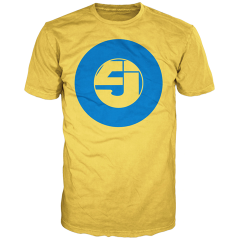 Jurassic 5 slipmat yellow short sleeve t-shirt