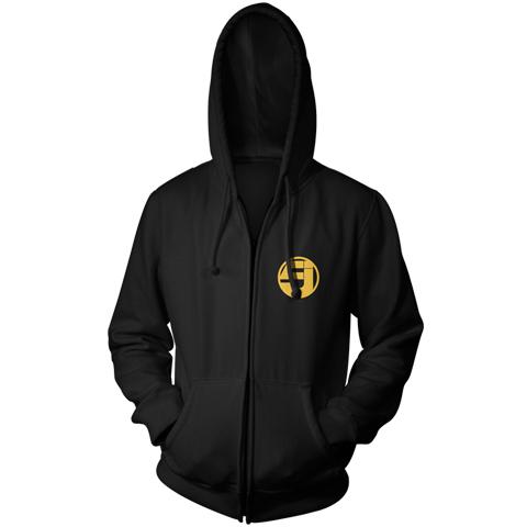 Jurassic 5 logo dates zip hoodie