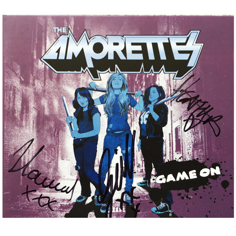 The Amorettes Game On Signed CD