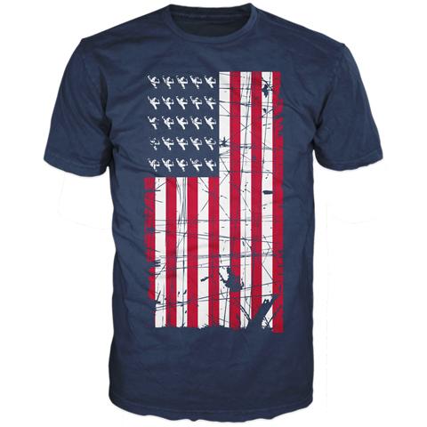 Echo And The Bunnymen Flag Short Sleeve T-shirt