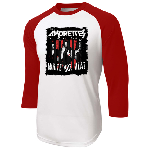 The Amorettes White Hot Heat Red Baseball Shirt