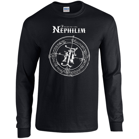 Fields Of The Nephilim Classic Logo Long Sleeve T-shirt