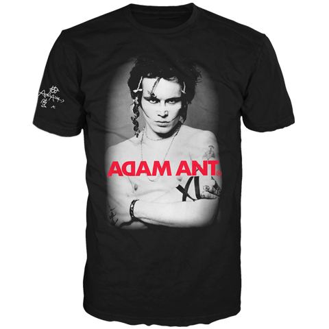 Adam Ant USA 2017 Tour Classic Photo Short Sleeve T-shirt
