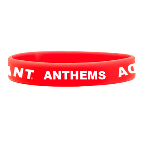 Anthems Red Wristband
