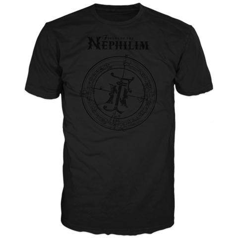 Fields Of The Nephilim Prophecy Black On Black Puffer Short Sleeve T-Shirt