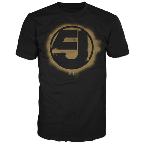 Jurassic 5 Gold Spray Logo Short Sleeve T-Shirt