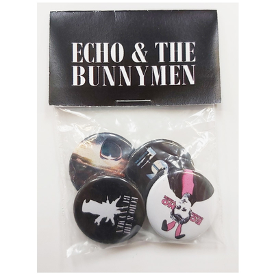 Echo And The Bunnymen Album Covers Badge Pack