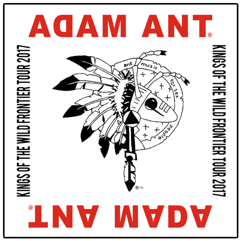 Adam Ant Kings Of The Wild Frontier 2017 White Bandana