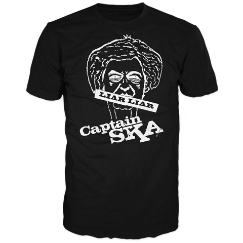 Captain SKA Liar Liar Black Short Sleeve T-Shirt