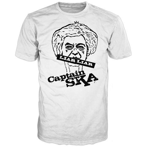 Captain SKA Liar Liar White Short Sleeve T-Shirt