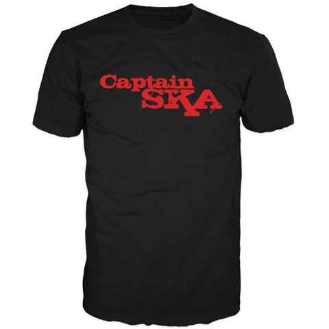 Captain SKA Red Logo Short Sleeve T-Shirt