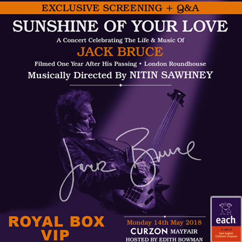 Royal Box VIP Package for Sunshine Of Your Love