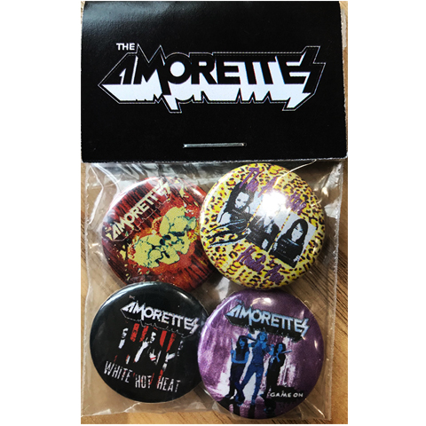 The Amorettes Cover Artwork Badge Pack