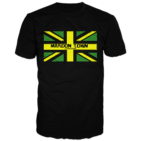 Maroon Town Flag Short Sleeve T-Shirt