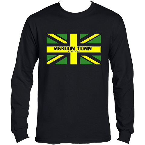 Maroon Town Flag Long Sleeve T-Shirt