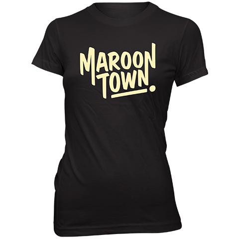 Maroon Town Logo Skinny Fit T-Shirt