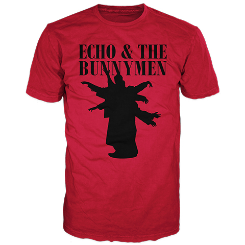 Echo And The Bunnymen Silhouette Red Short Sleeve T-Shirt