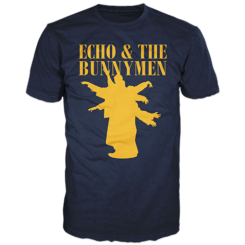 Echo And The Bunnymen Silhouette Navy Short Sleeve T-Shirt
