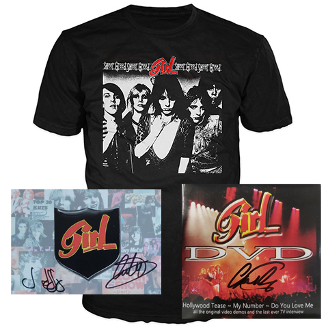 Girl Signed DVD Signed Postcard And T-Shirt Bundle