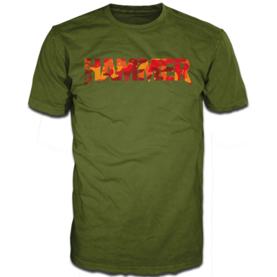Metal Hammer Cammo 2 Olive Short Sleeve T-Shirt