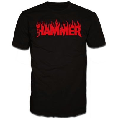 Metal Hammer Fire logo Black