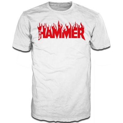 Metal Hammer Fire logo White