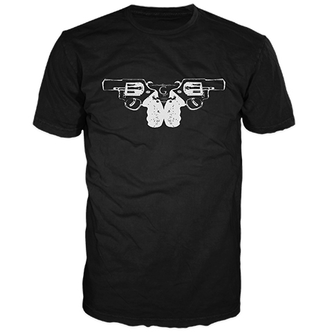 Guns Black Short Sleeve T-Shirt