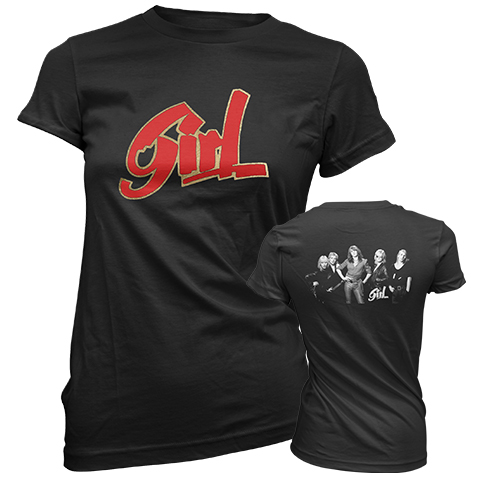 Girl Logo And Band Shot Short Sleeve T-Shirt